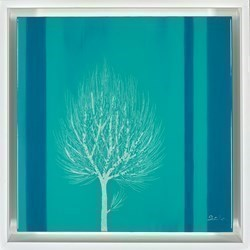 Turquoise Sky III by Nakisa Seika -  sized 12x12 inches. Available from Whitewall Galleries